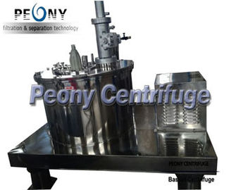 چین Hydraulic Scraper Bottom Horizontal Centrifuge Equipment / Perforated Basket Centrifuge تامین کننده