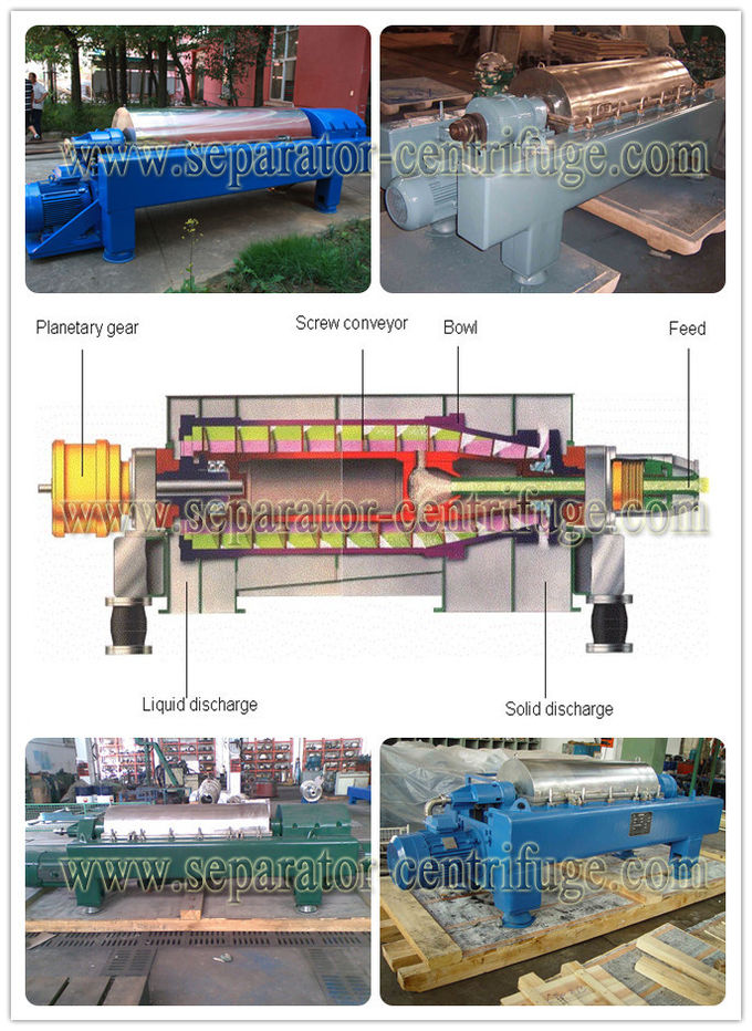 Full Automatic Decanter Centrifuges Drilling , Oilfield Decanter Centrifuge Solid Drum