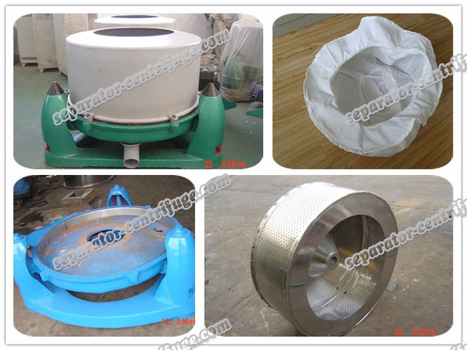 Three Footed Manual Top Discharge Basket Centrifuge Batch Operate Food Centrifuge Machine